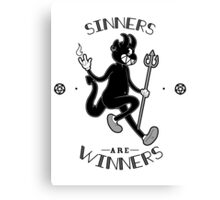 Sinners are WINNERS Canvas Print