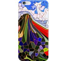 Psychedelic Mountains Abstract Stained Glass Mosaic iPhone Case/Skin
