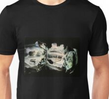 Glowing spaceships vibrating at high frequency Unisex T-Shirt