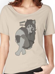 Cute rikki eating her new tail! Women's Relaxed Fit T-Shirt