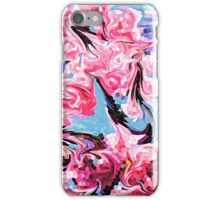 Abstract Swirling Cherry Blossoms Stained Glass Mosaic iPhone Case/Skin