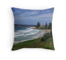Yamba Main Beach Throw Pillow