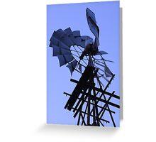 Windmill on Edge! Greeting Card