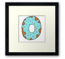 Blue donut Framed Print