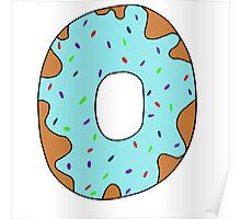 Blue donut Poster