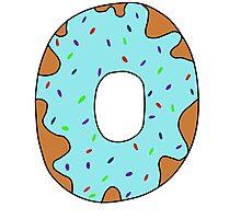 Blue donut Photographic Print