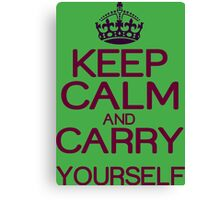 Keep calm and do it yourself Funny Geek Nerd Canvas Print