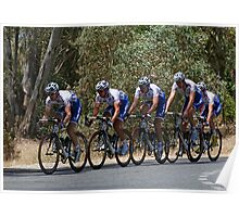 Riders in Tour Down Under 2009 Poster