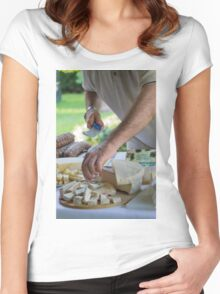 cheese appetizer Women's Fitted Scoop T-Shirt
