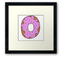 pink donut Framed Print