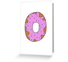 pink donut Greeting Card