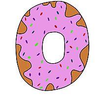 pink donut Photographic Print