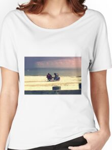 white tropical beach Women's Relaxed Fit T-Shirt