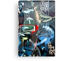 Graffiti Colorful detail on a textured wall Canvas Print