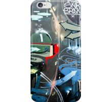 Graffiti Colorful detail on a textured wall iPhone Case/Skin