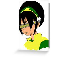 Toph Geordi Visor Greeting Card