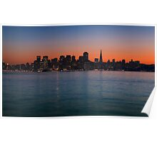 San Francisco Sunset Skyline Poster