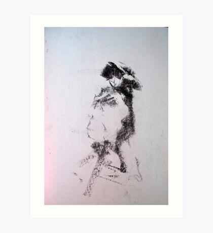 Gestural nude II Art Print