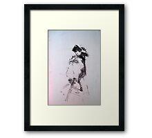 Gestural nude II Framed Print