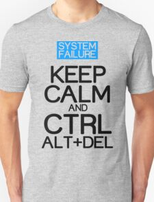 Keep calm ctrl alt del Funny Geek Nerd T-Shirt