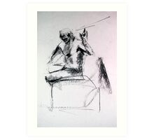 Gestural Nude III Art Print