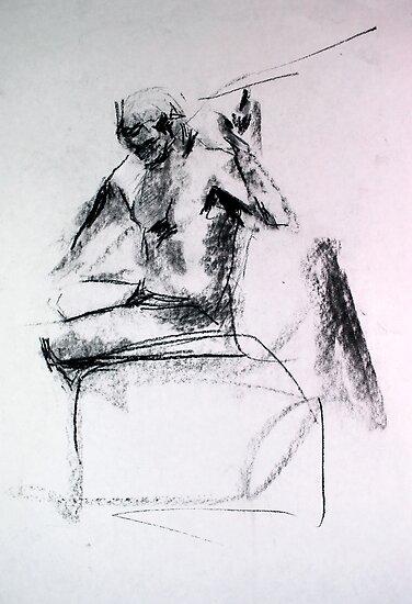 Gestural Nude III by Heidi Zito
