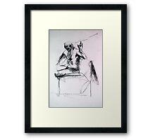 Gestural Nude III Framed Print
