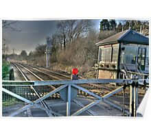"""Fiskerton Station Signal Box""  Poster"