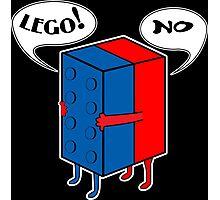 LEGO! NO! Funny Geek Nerd Photographic Print