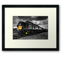 Class 37 Pioneer (mono version) Framed Print