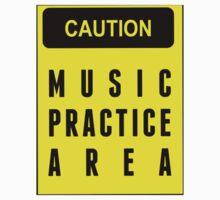 Caution, music practice area Kids Tee