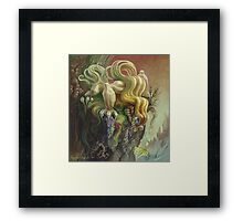 Curly Dragon Framed Print