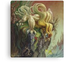 Curly Dragon Canvas Print