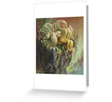 Curly Dragon Greeting Card