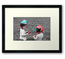 Come on ... race you. Framed Print