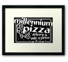 Millennium Pizza Funny Geek Nerd Framed Print