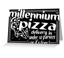 Millennium Pizza Funny Geek Nerd Greeting Card