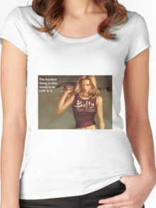 Buffy Quotes Women's Fitted Scoop T-Shirt