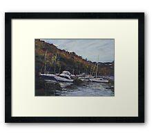 Boats on Middle Harbour Framed Print