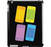 Four blank mobile cell phones in colours iPad Case/Skin