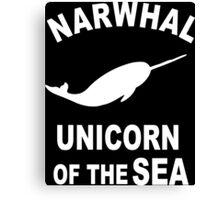Narwhals Funny Geek Nerd Canvas Print