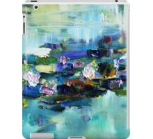 Lily Pond - morning - close up 1 iPad Case/Skin