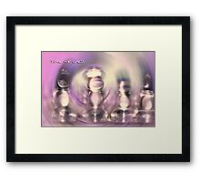 CHESS © Vicki Ferrari Photography Framed Print