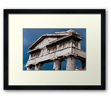 Stormy Rome in Greece Framed Print