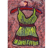 Dress on a hanger Photographic Print
