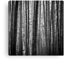 Bamboo Monochrome Canvas Print