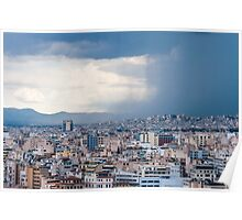 Stormy day in Athens Poster