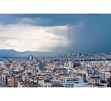 Stormy day in Athens Photographic Print