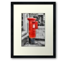 Pillar Box-Stamp Machine Framed Print