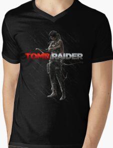 Lara Croft Tomb Raider Mens V-Neck T-Shirt